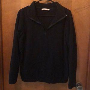 Black fleece pullover